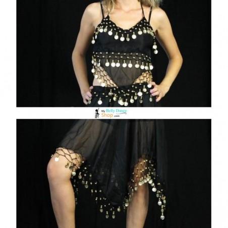Tenue danse orientale avec jupe noir